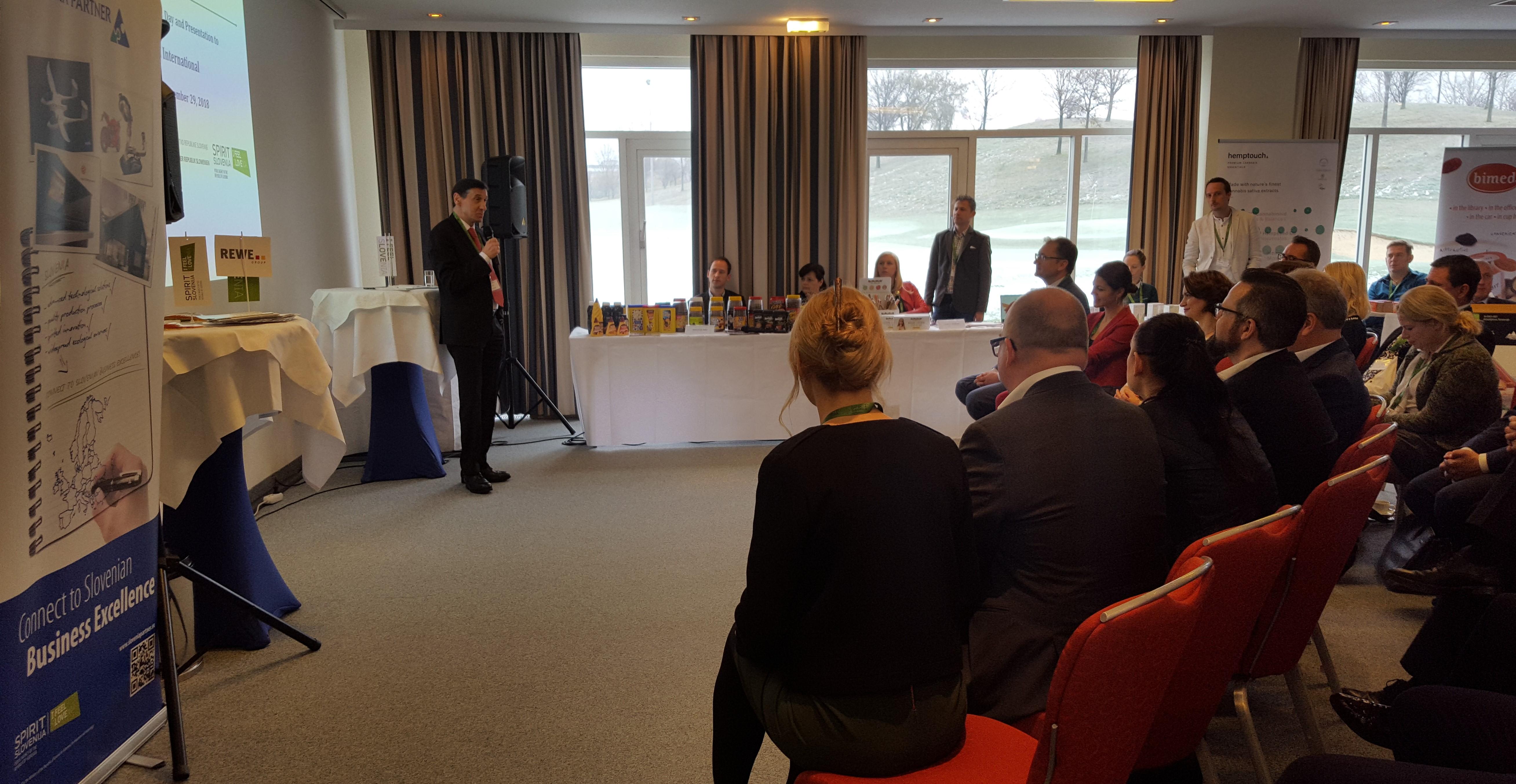 Danes je na Dunaju potekal Dan slovenskih dobaviteljev, na katerem je 30 slovenskih podjetij predstavljalo svoje izdelke trgovski skupini REWE v Avstriji.