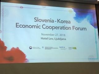 Slovensko korejski poslovni forum v hoteu Lev