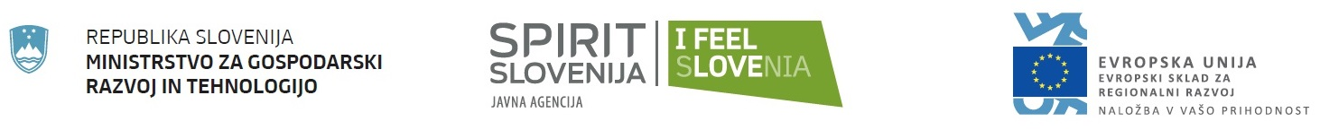 Spirit Slovenija, Ministrstvo za gospodarski razvoj in tehnologijo in Evropska unija, Evropski sklad za regionalni razvoj
